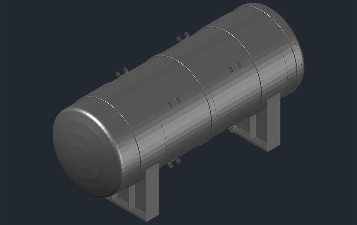 3D модель резервуара РГС