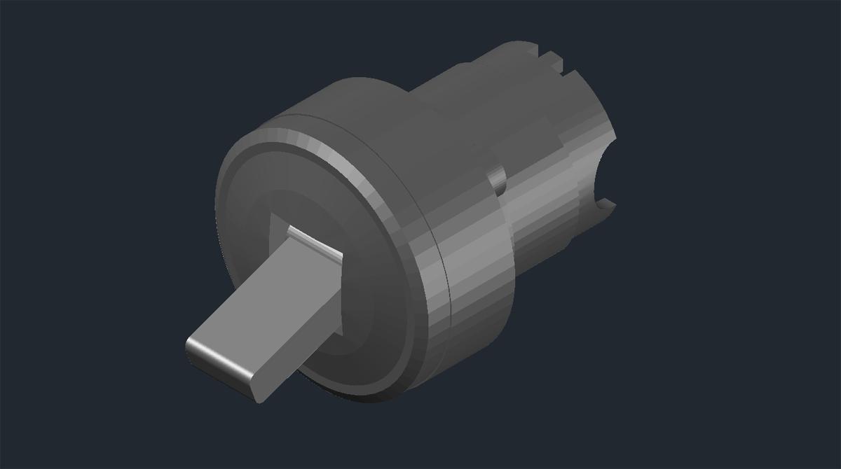 3D модель двухпозиционного тумблера