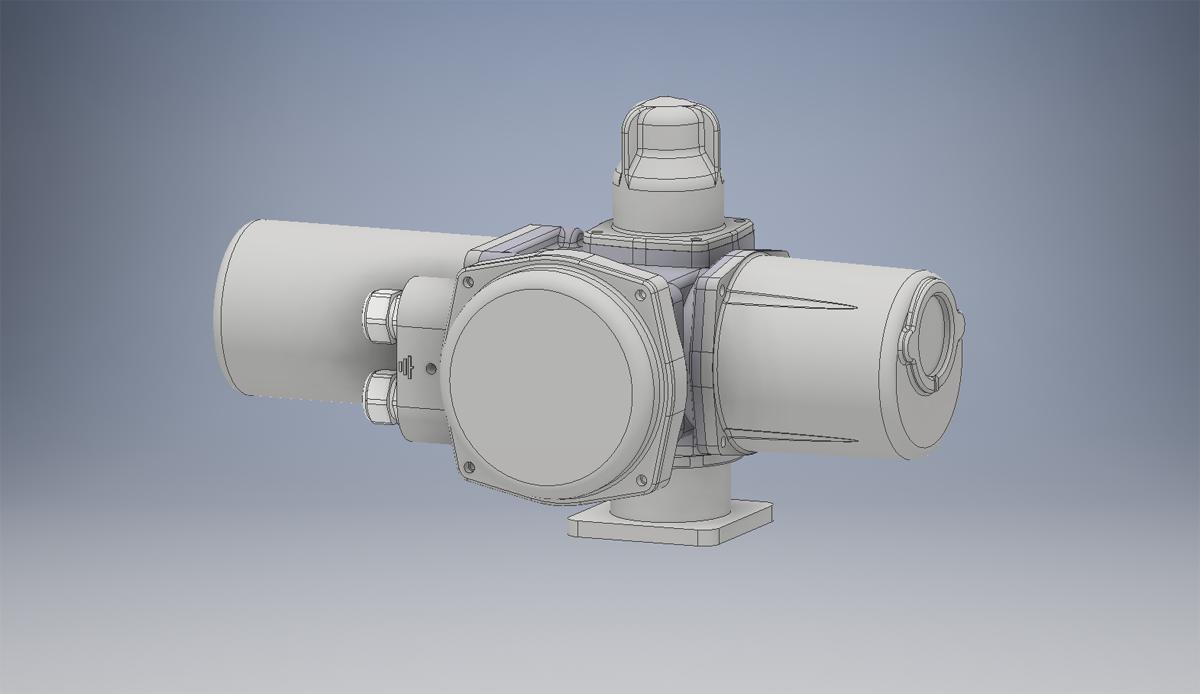 3D модель ГЗ электропривода