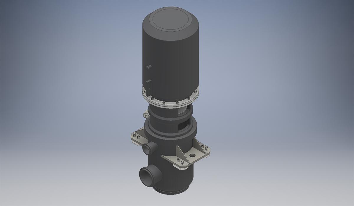 3D модель конденсатного насоса
