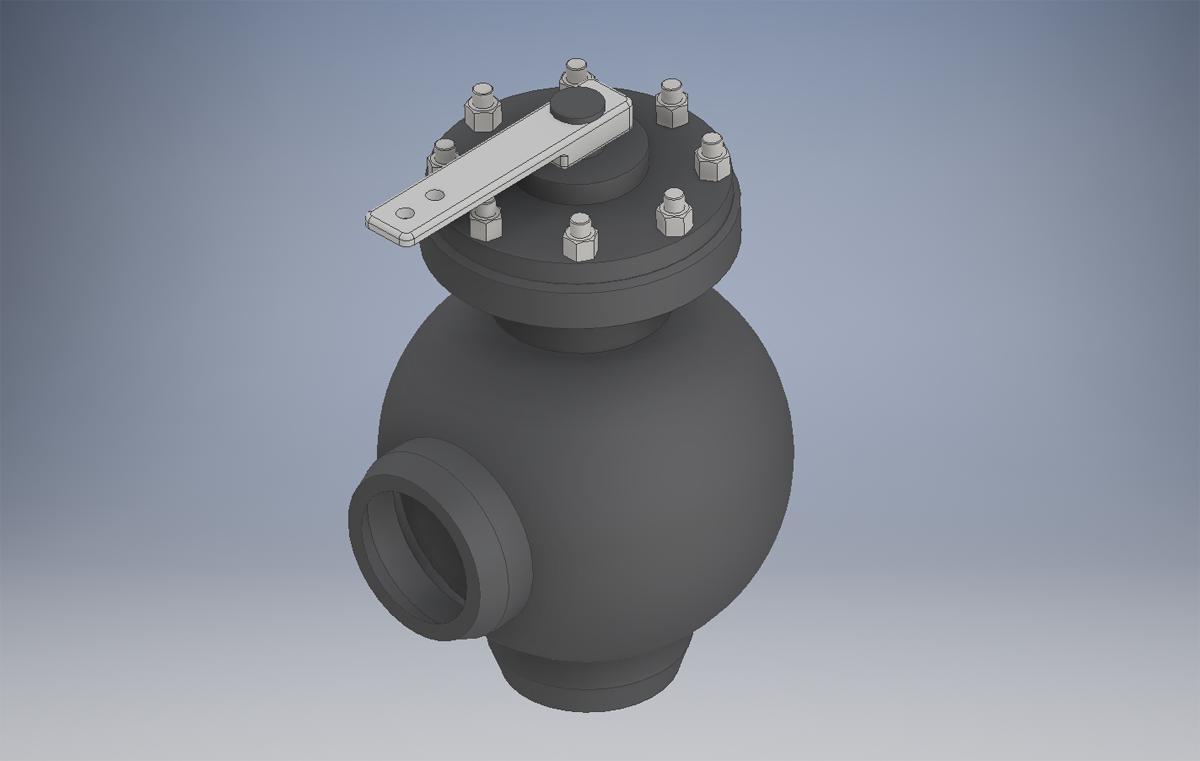 3D модель запарного клапана