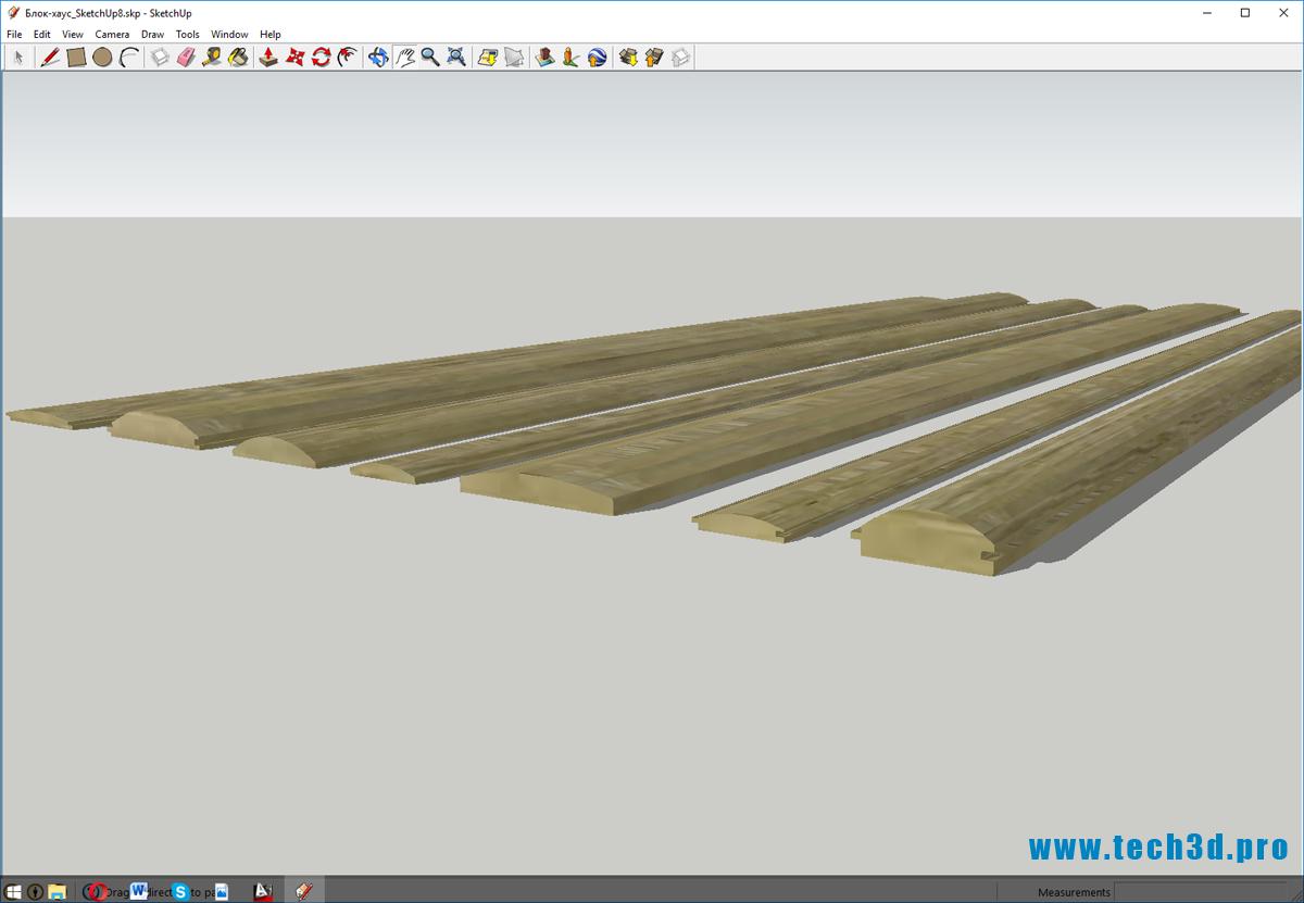 3D модель сайдинга