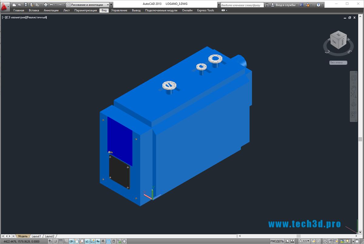 3D-модель газового котла Buderus