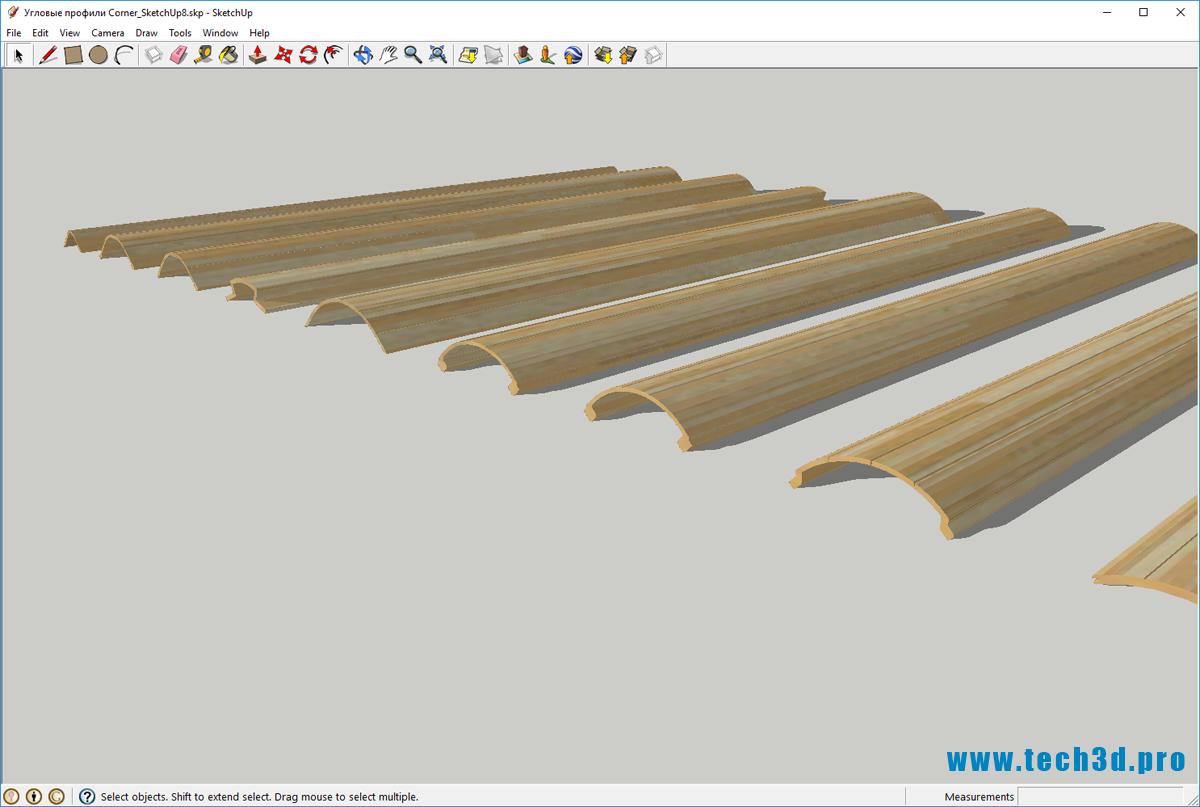 3D модель профиля углового