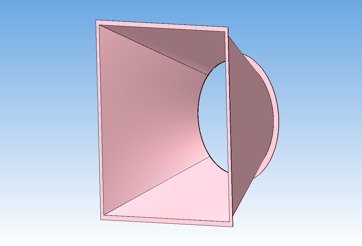 3D модель диффузор вентиляционный