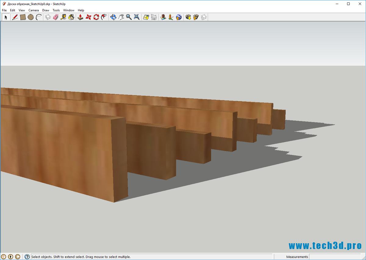 3D модель доски обрезной