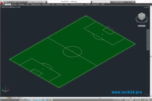 3D-модель стандартного футбольного поля