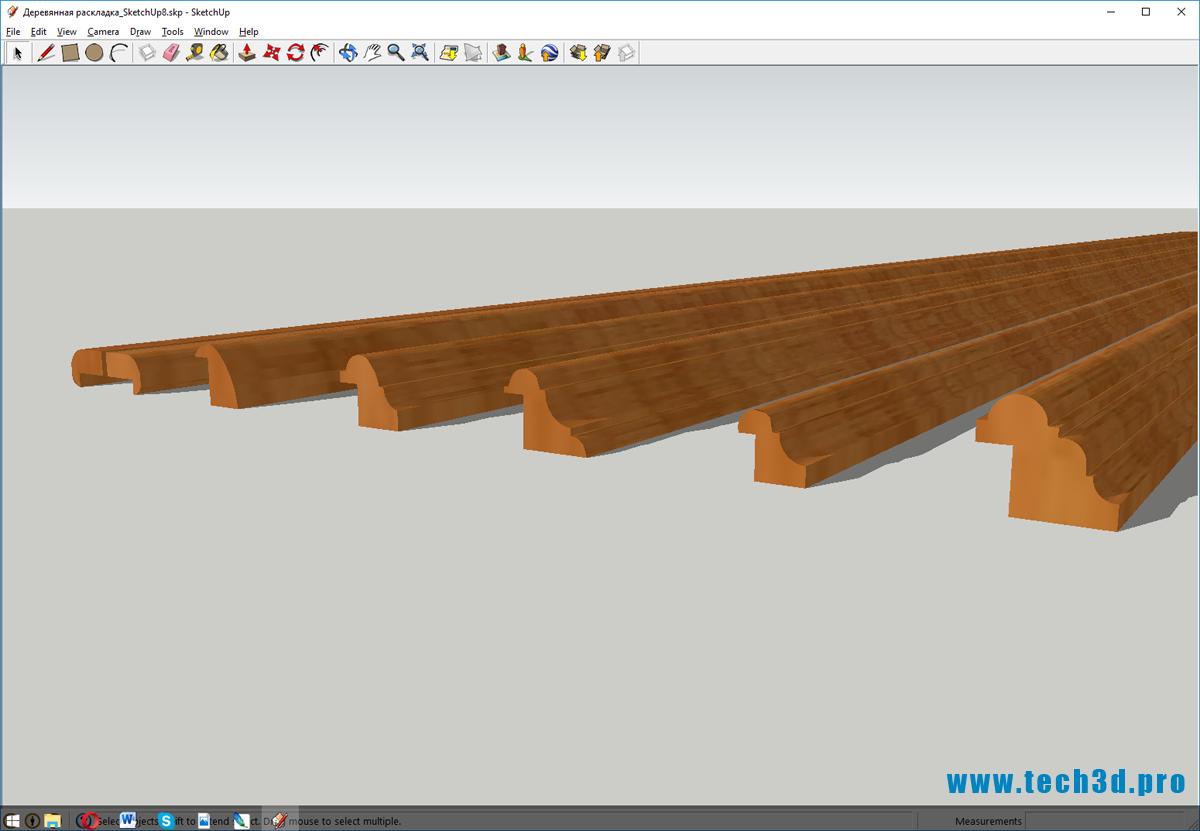 3D модель деревянной раскладки