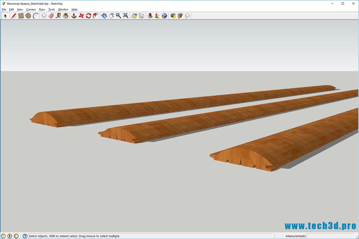 3D модель бревна