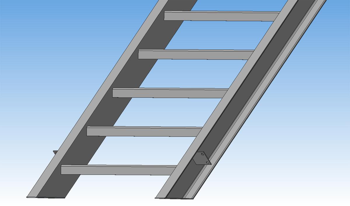 3D модель лестница ЛГФ