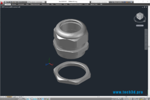 3D-модель сальника PG