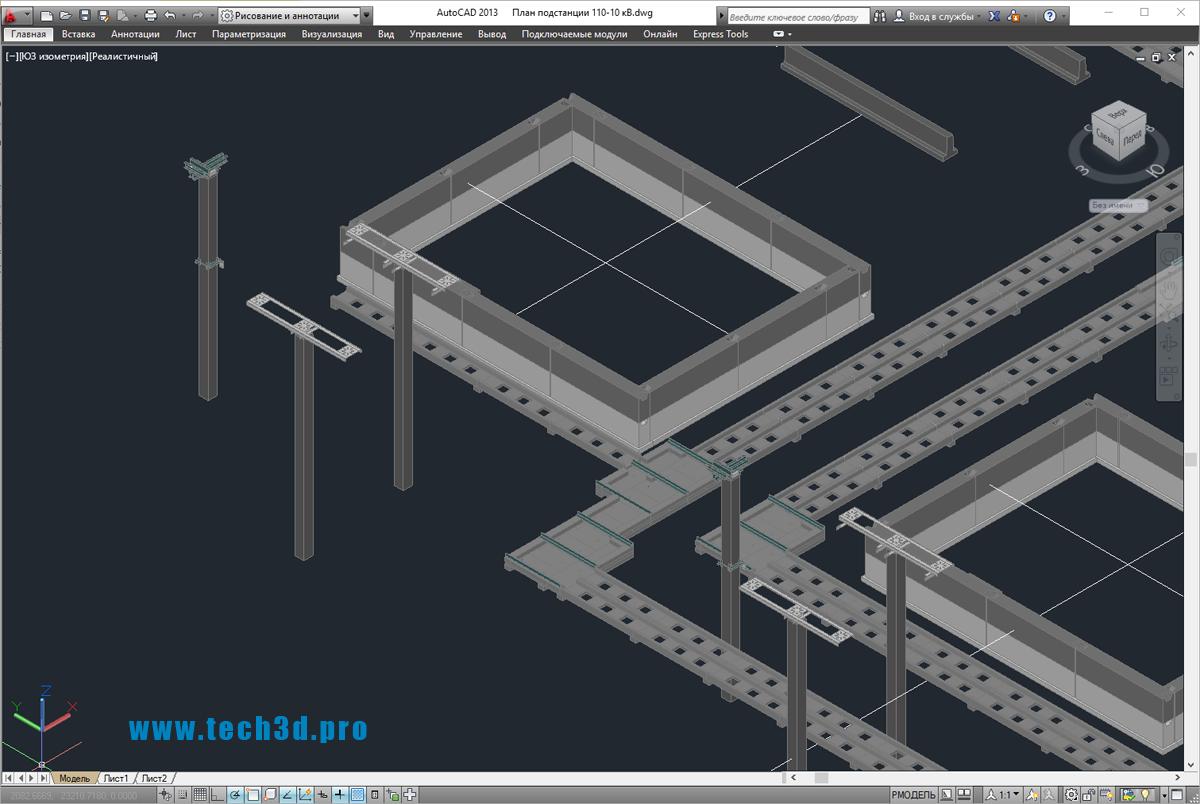 3D-модель подстанции