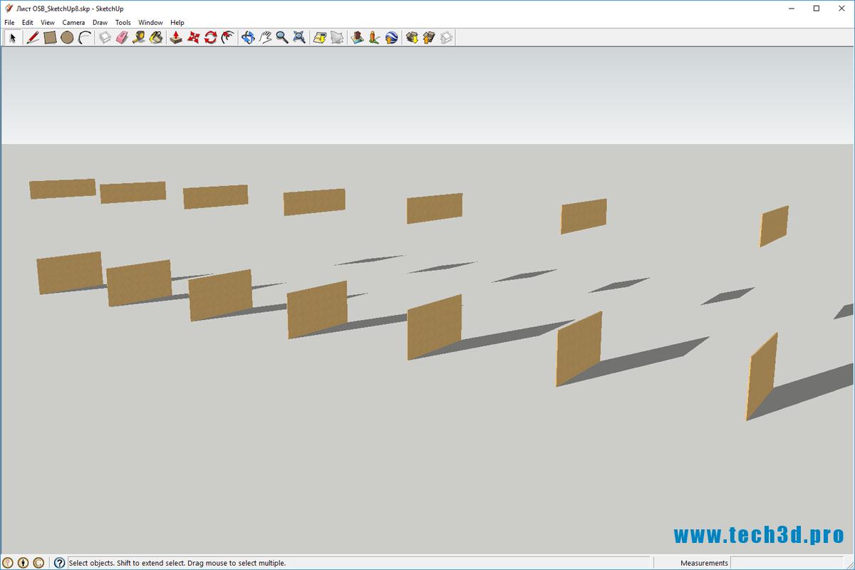 3D модель OSB