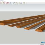 Плинтус напольный деревянный для внутренней отделки