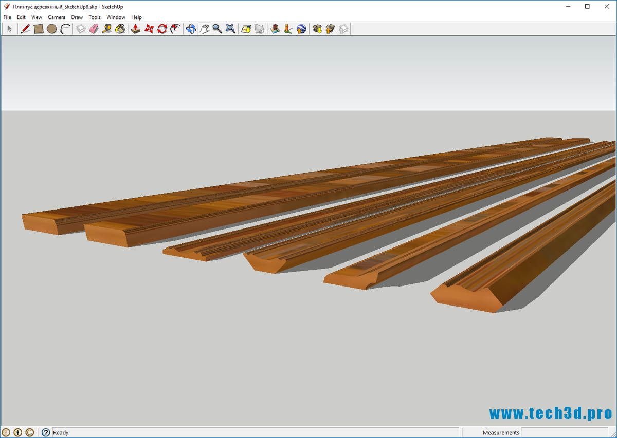 3D модель плинтуса напольного