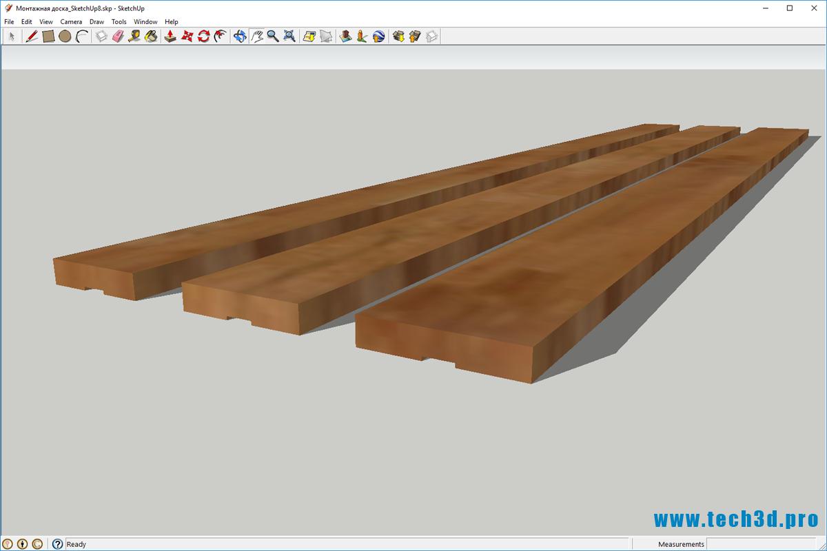 3D модель террасной доски