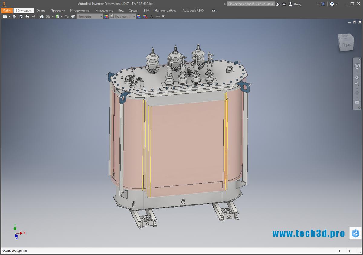 3D-модель масляного трансформатора ТМГ 12