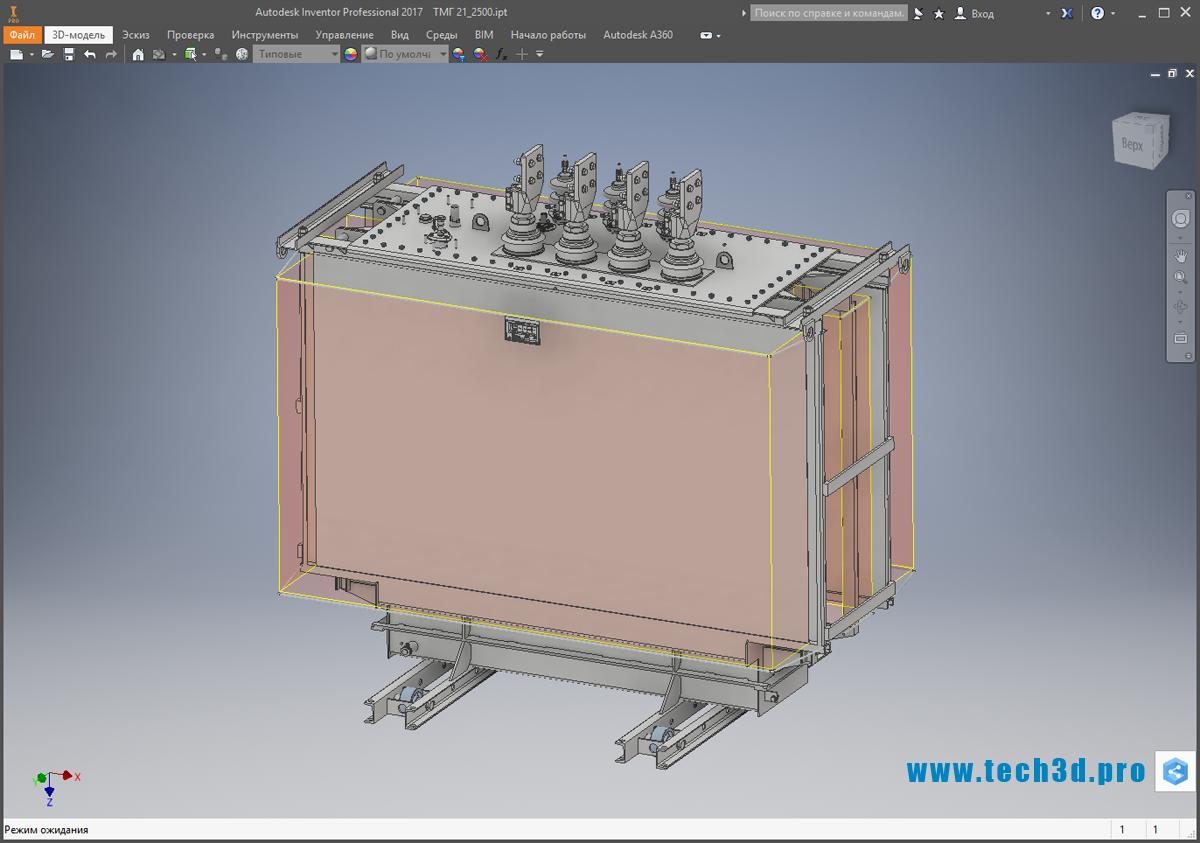 3D-модель трансформатора серии ТМГ 21