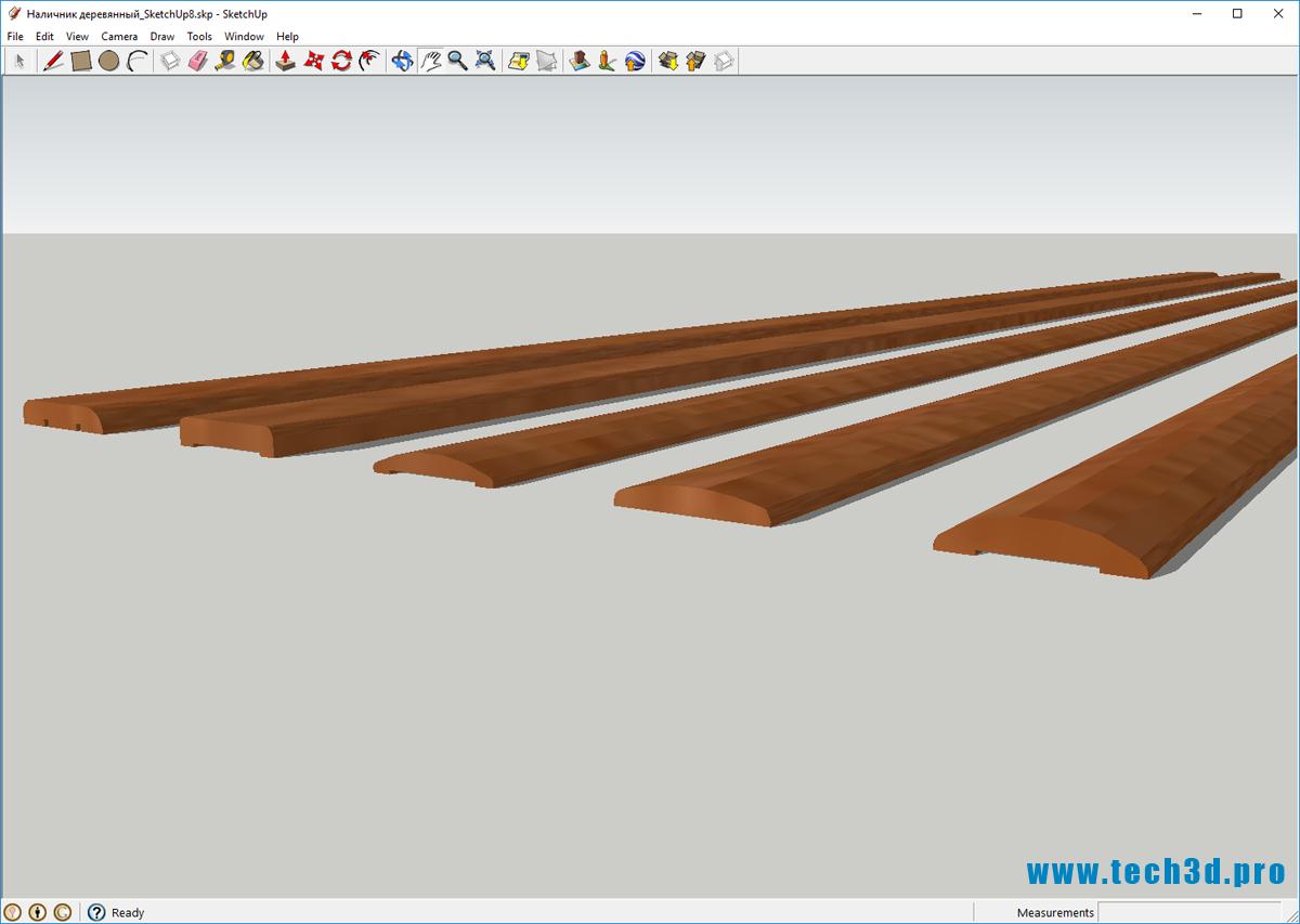 3D модель наличника деревянного