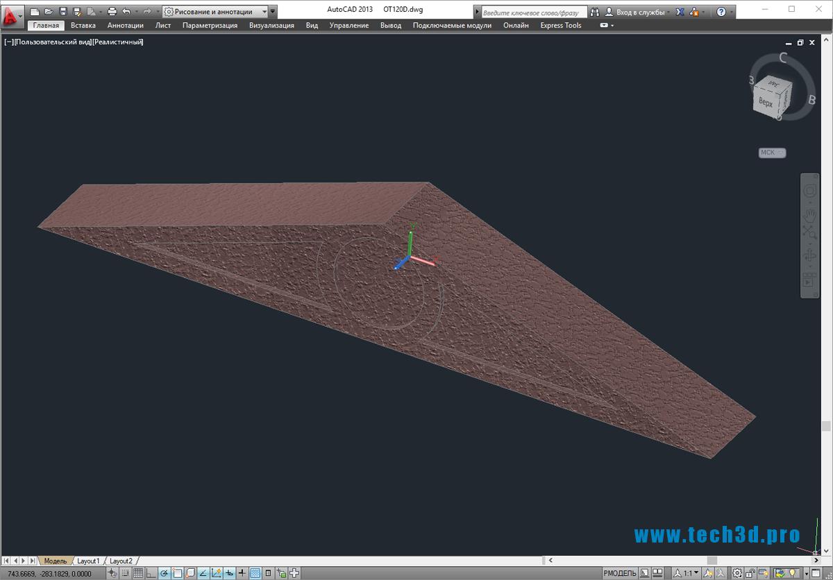 3D-модель фасадного фронтона