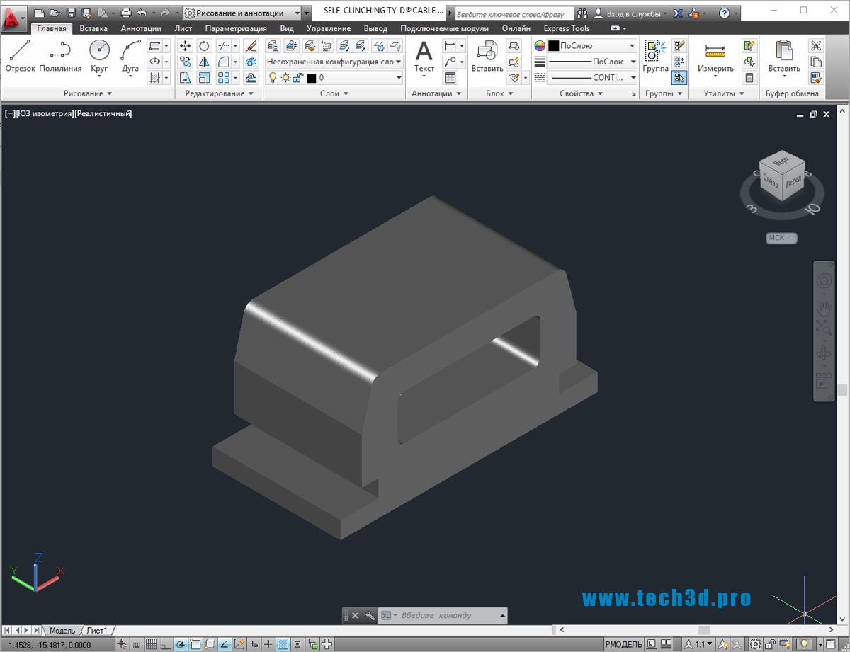 3D модель клиц кабельных