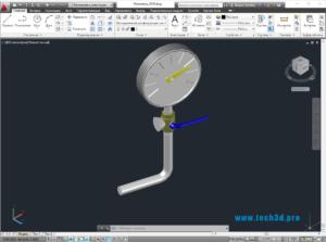 3D модель манометра давления
