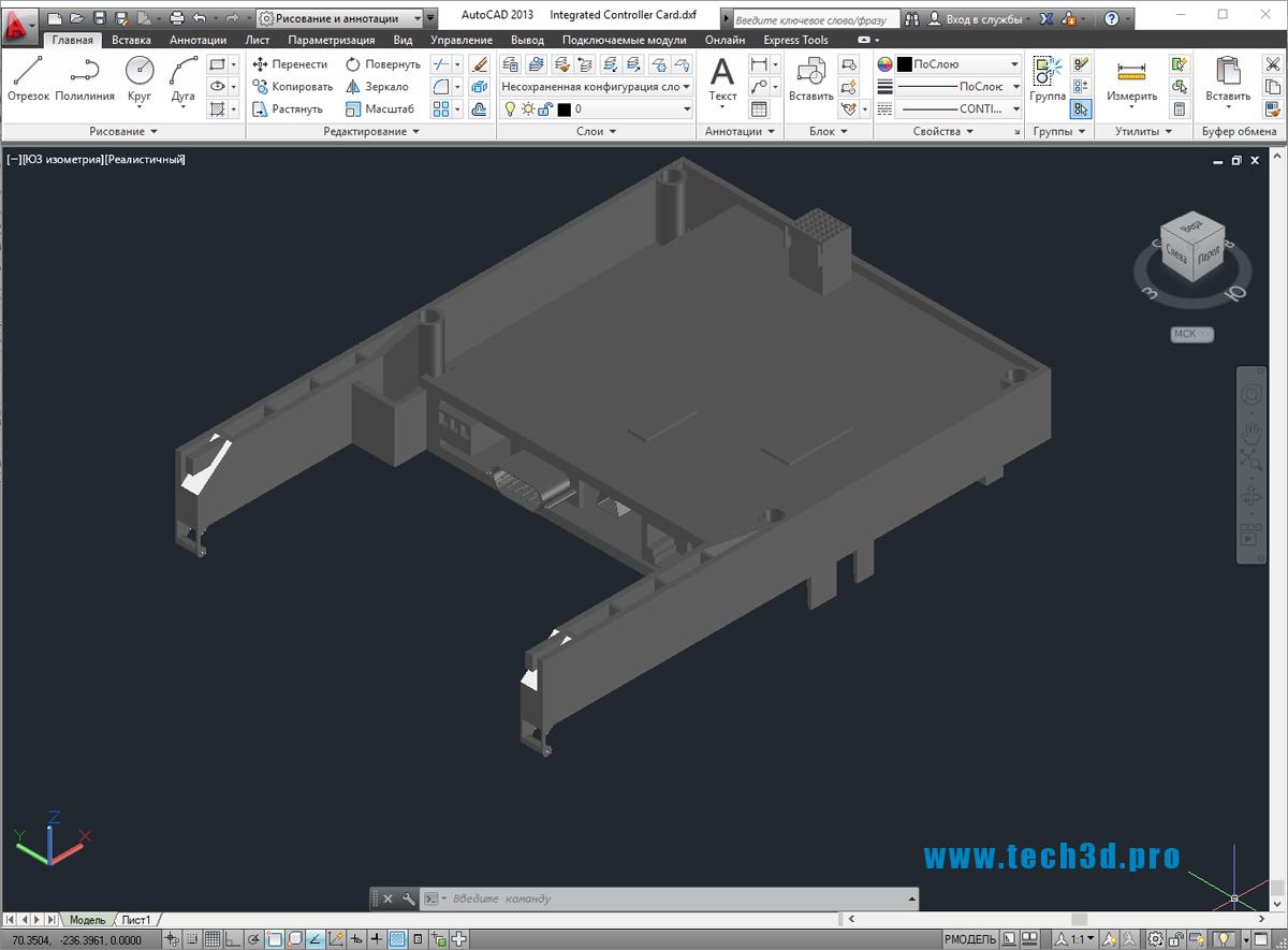 3D-модель контроллера SCADA системы