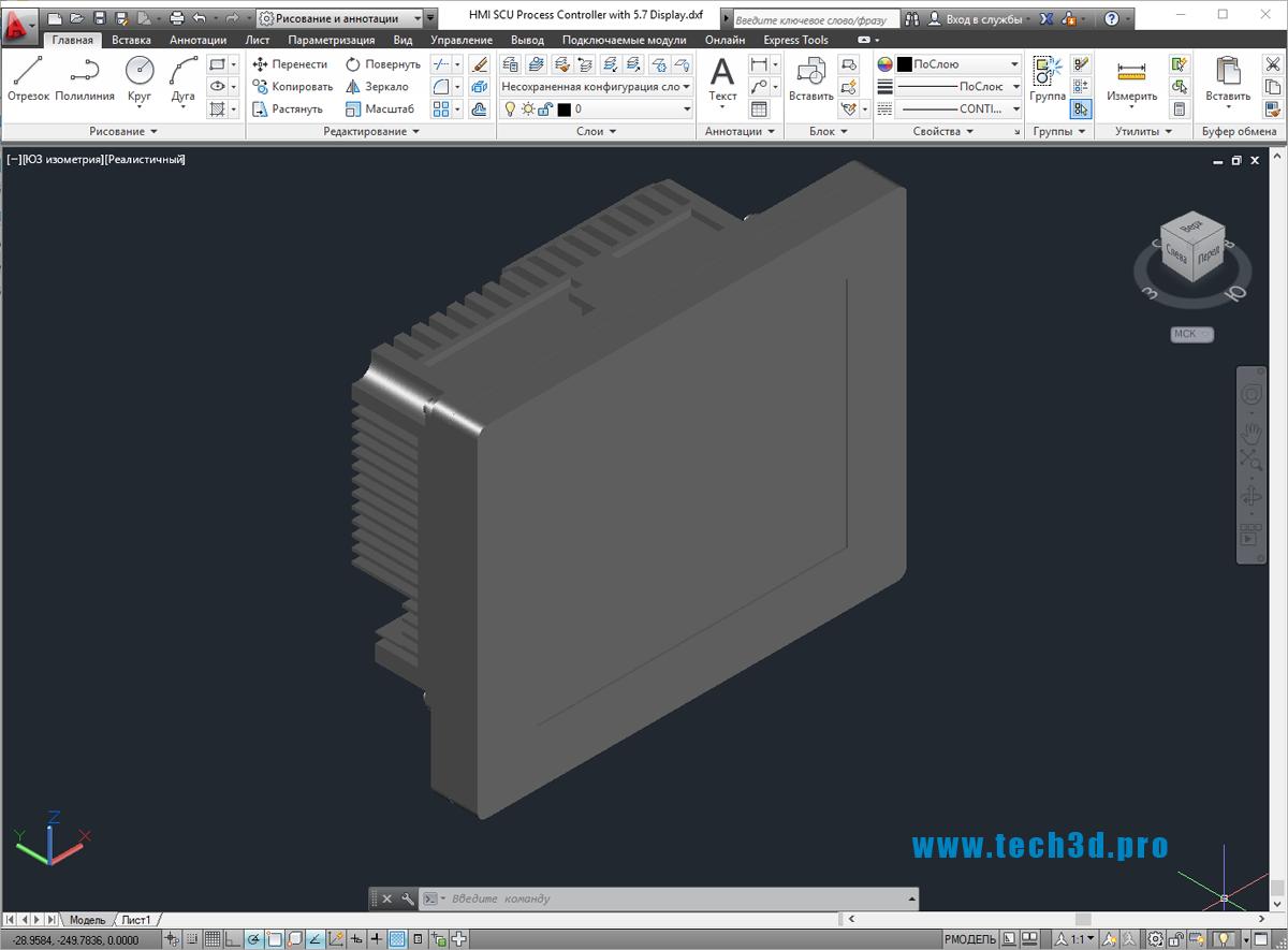 3D-модель дисплея промышленного