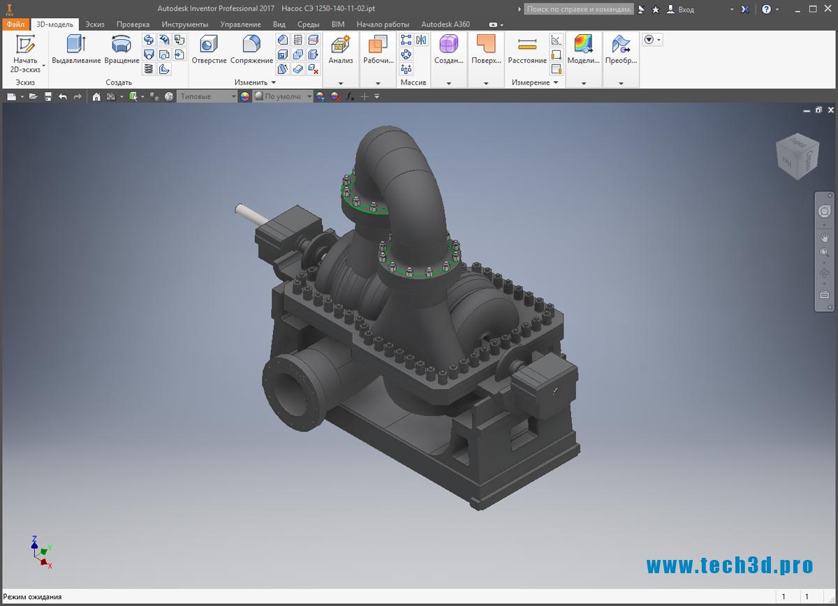 3D-модель СЭ-1250-140