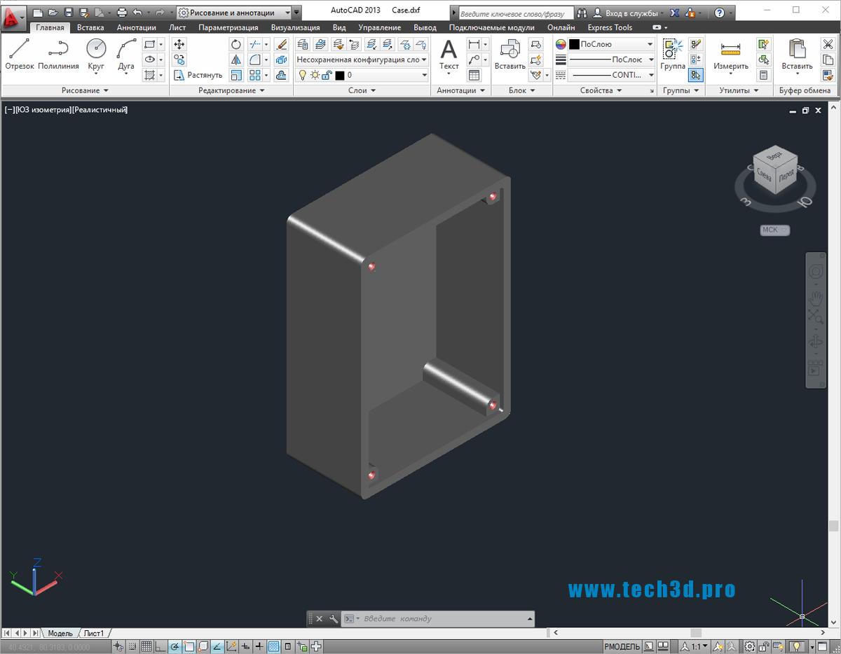 3D-модель распаячной коробки