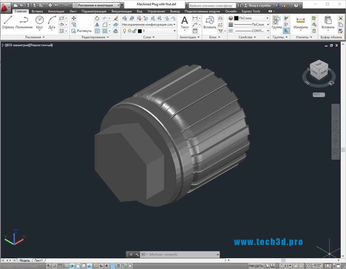 3D-модель заглушки для труб стальных