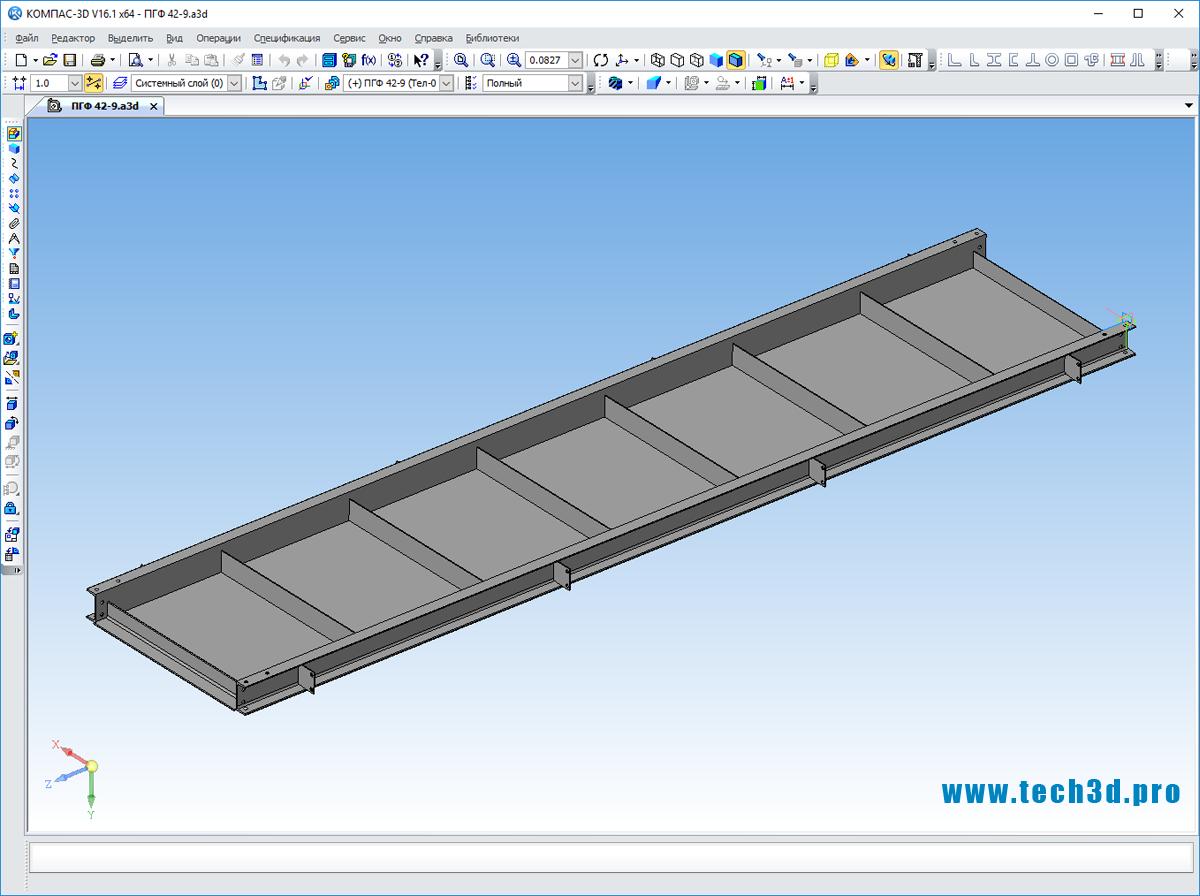 3D-модель площадки обслуживания оборудования