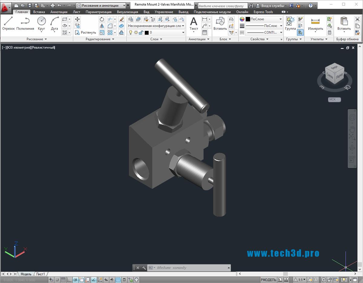 3D-модель вентильного блока