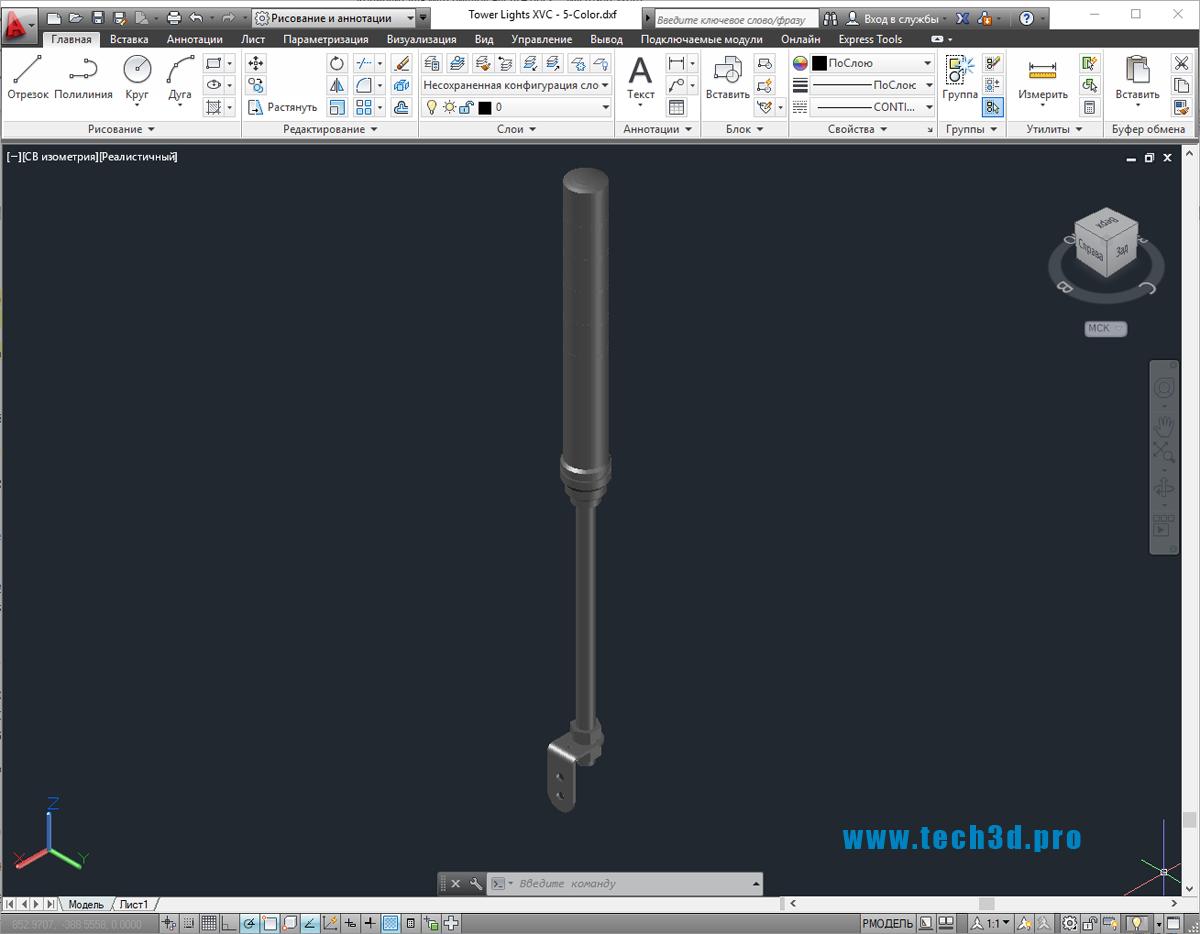 3D-модель световой башни
