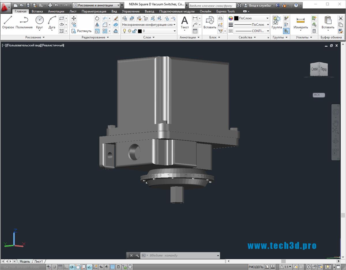 3D-модель высоковольтного выключателя