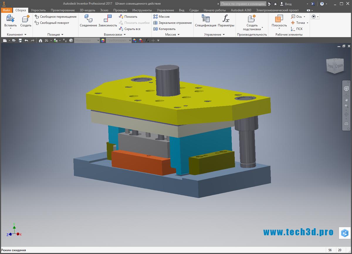 3D-модель вырубного штампа