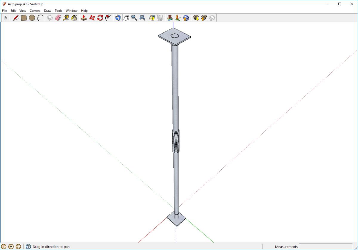 3D модель регулируемой опоры для бруса