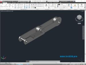 3D модель цепи колосников
