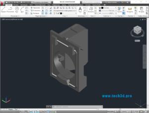 3D модель блока вспомогательных контактов