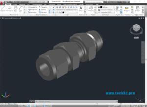 3D модель коннектора проходного