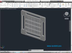 3D модель элемента кассетных потолков