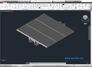 3D модель цепи горизонтального транспортера