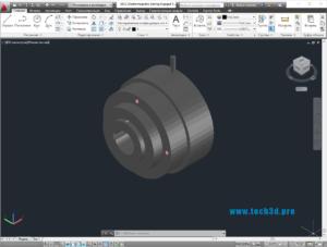 3D модель масляной электромагнитной муфты