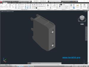 3D модель клеммы
