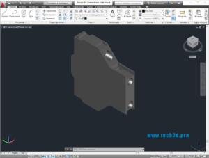 3D модель блок-контакта выключателя 1NO