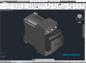 3D модель контактора переменного тока Schneider