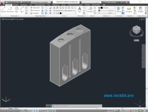 3D модель приставки контактной для контактора