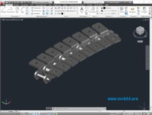 3D модель дугообразной цепи