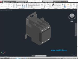 3D модель контактора постоянного тока Schneider