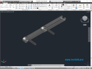 3D модель цепи осушителя